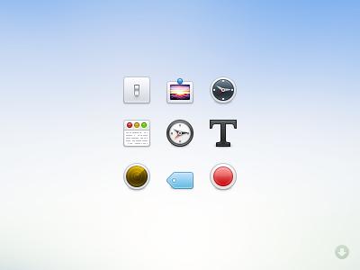 Basic icons icon 32 toolbar psd resource free