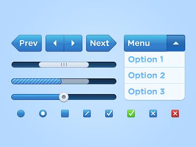Bluepill UI kit PSD @2x 2x retina hidpi ui interface psd blue pill bluepill resource photoshop