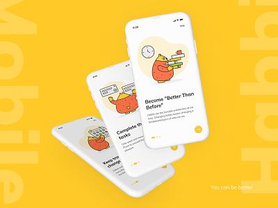 Habbi App - IOS applicaiton steps screens application onboarding mobile app
