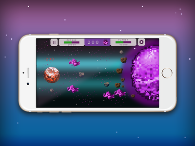 Meteor mobile game mobilegame rock meteor planet dast space pixel art uiux