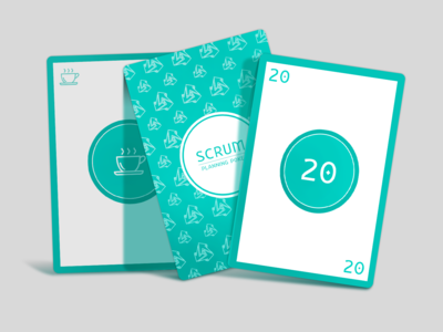 Planning Poker (Scrum) turquoise back of a card card games card scrumpoker poker card scrum
