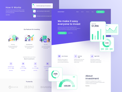 Investment landing page investing investor investment homepage landing page