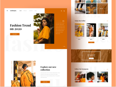 Fashion landing page design exploration homepage fashion web fashion landing page fashion webdesign fashion website ui ux landing page