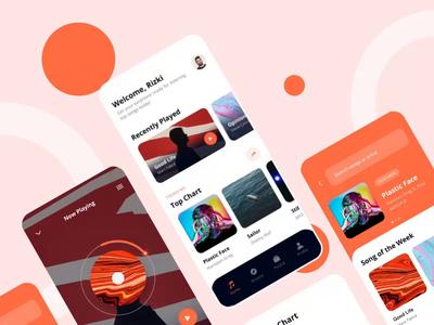 music player app prototype protopie ui ux music app mobile app prototyping prototype animation