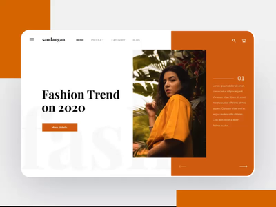 animated fashion landing page fashion webdesign protopie motiongraphics animation animated banner homepage landing page illustration