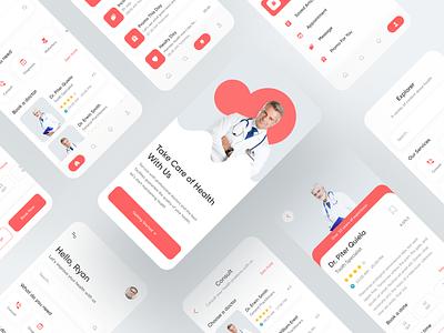 Medical app doctor app medical care mobile app design medical app mobile app