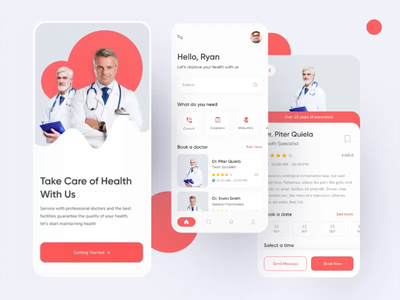 Doctor app prototyping medical app doctor app doctor appointment mobile app prototype animation protopie prototype prototyping