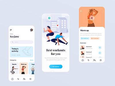 Workout app prototype animation protopie prototype animation health app fitness app workout app mobile app