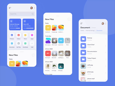 File Manager Mobile App animated prototyping file manager app file explorer mobile app protopie prototyping prototype animation