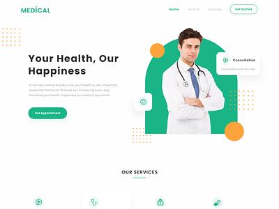 Medical Homepage Website homepage landing page doctor appointment healthcare medical website design