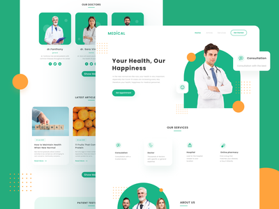 Medical Homepage Website homepage landing page doctor appointment healthcare medical website design