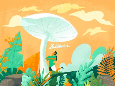 illustration-Mushroom and me