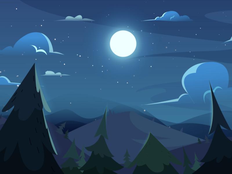 Blue Night me 插图 illstuator