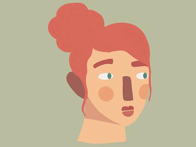 fun faces doodle procreate woman face design illustration