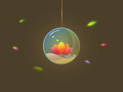 Glass Terrarium design illustration