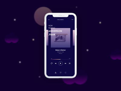 Music Player App minimal typography music idea ideation late night music app mockup mobile design mobile ux music player app ui design