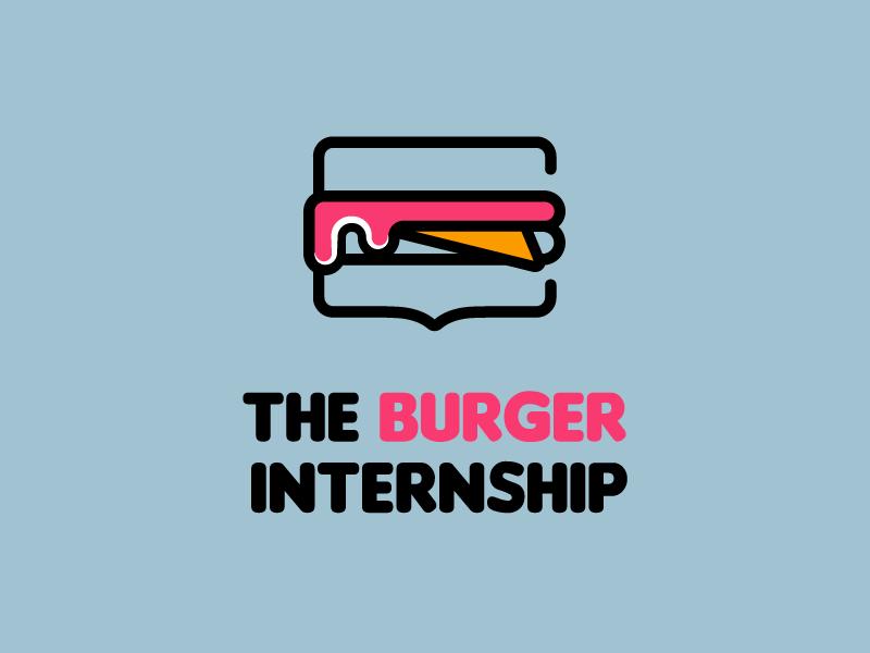 Burger vector branding design app pink internship logo burger