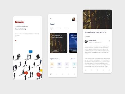 Quora - Redesign Concept exploration redesign forum feed question quora