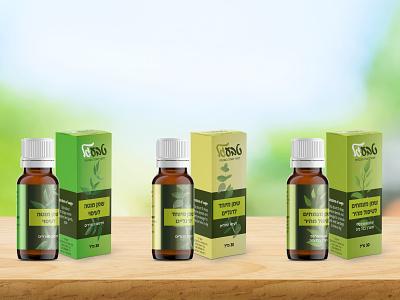 Branding packaging for the production of natural oils branding logodesign concept design packing design