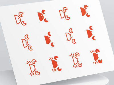 Seafood Logo Design branding identity illustration crustacean food logo food app restaurant food lobster crab logo mark symbol animal logo design icon brand identity design brand seafood branding logo logotype