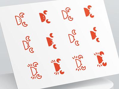 Seafood Logo Design branding identity illustration crustacean food logo food app restaurant food lobster crab logo mark symbol animal logo design icon brand identity design brand seafood branding logo logotype