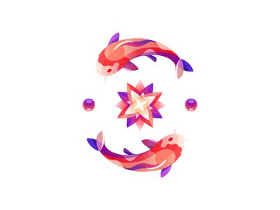 Koi carp illustration