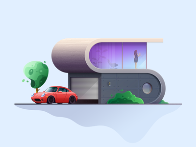Private house illustration game ui glass landscape illustration vector graphic illustration art web page illustration illustration design brand identity illustration game design flat style private house illustration human porsche flat exterior architecture car building bricks