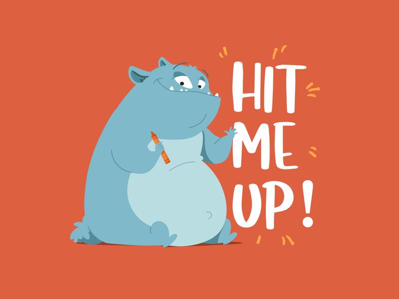 Hit Me Up! boardgames magazine books illustration animation apps games illustrator vector animals illustration childrens book preschool adobe illustrator character kids illustration illustraion character design