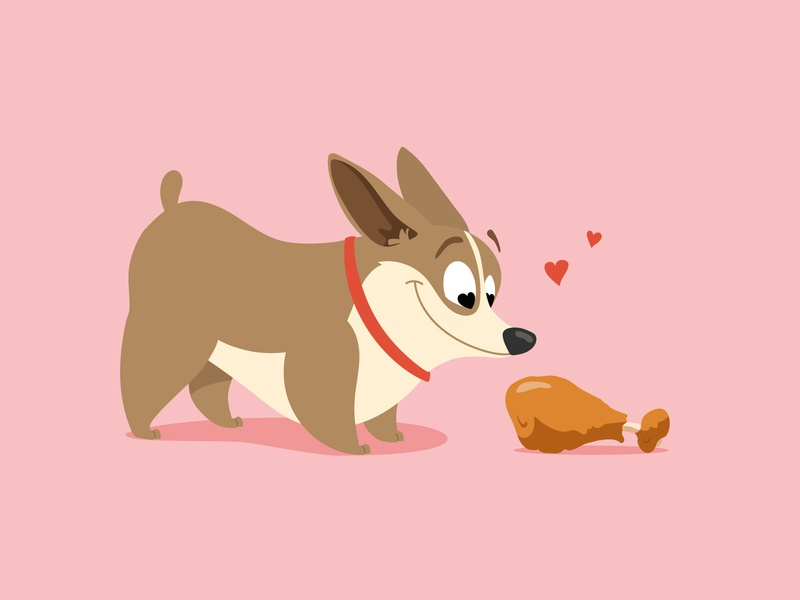 True Love character love meat lover vector illustration animal childrens book preschool kids illustration illustraion character design dog