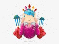 Flat Design Fireworks Character