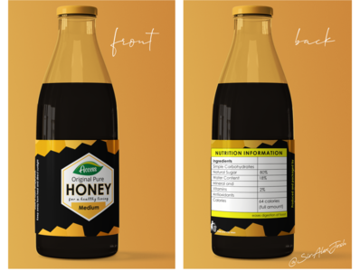 Honey Drops simple graphic logo branding design