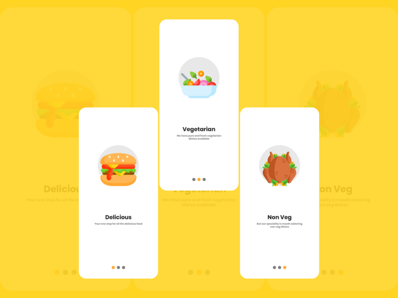 Dashboard for food app