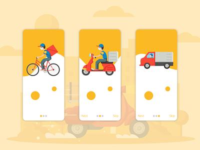 Minimal Onboard screen for food delivery app mobile ui mobile app design mobile app mobile branding ux ui design uiux minimal