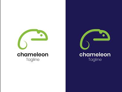 Chameleon Logo Design company brand logo company branding typography branding logo vector minimal