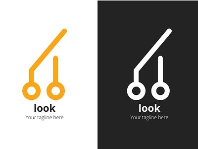 Look tech logo design designer logo logodesign branding web icon logo design vector illustration minimal