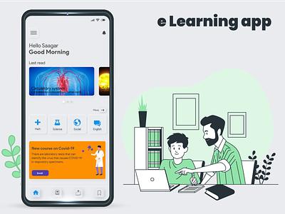 Elearning app design books education elearning app elearning monile app ux ui uiux