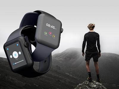 Music and fitness meter design for apple watch apple design apple music apple watch apple ui apple branding ux ui uiux minimal