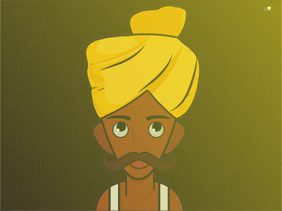 INDIAN MAN STARING FIREFLY characters indian character character characterdesign design vector illustration minimal