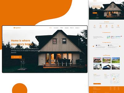Real estate website website design realestate realestateagent house buy simple home landing page webdesign uiux design minimal