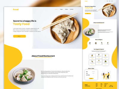 Restaurant with organic farm website design website website design webdesign ui design minimal landing interface clean ui clean design creative clean