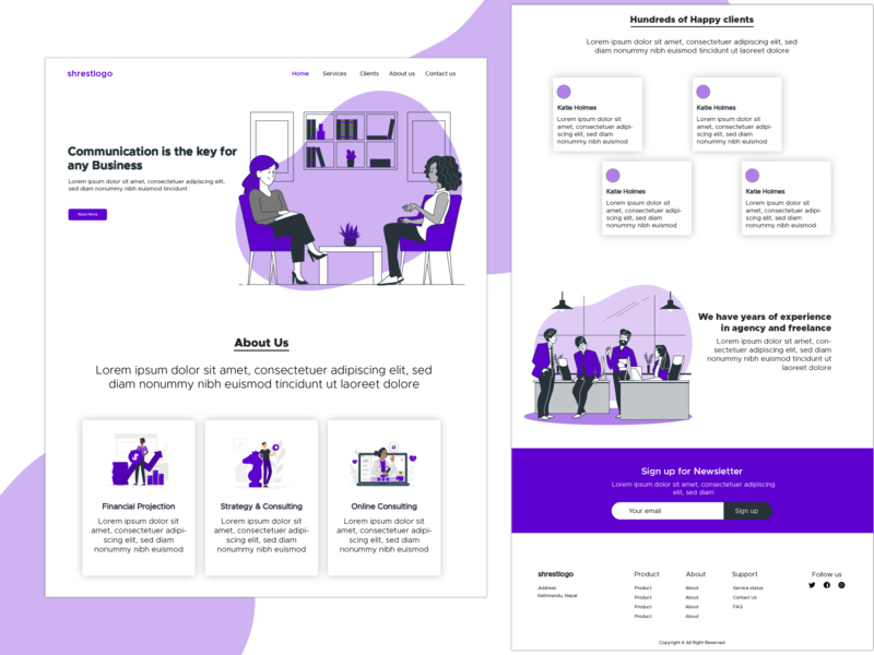 Digital Consulting Office Website design clean design blue clean consulting digital marketing agency digital marketing typography website landing web webdesign branding ux ui uiux minimal