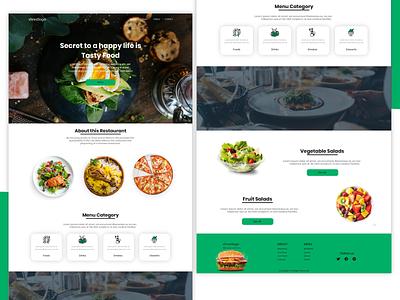 Restaurant website minimal clean typography design uiux ui food website food restaurant branding webdesign web website concept website design website restaurant