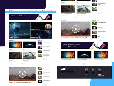 Blog website Design education website concept design ui ux blogging blog design website blog