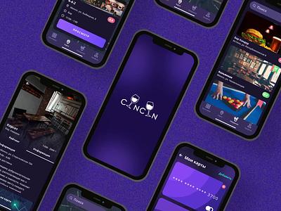 CinCin App design mobile ui ux ios app coctails bars restaurants