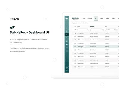 Dabblefox Dashboard dashboard ui design web