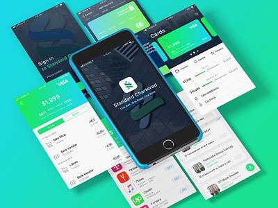 Standard Chartered App ux ui mobile