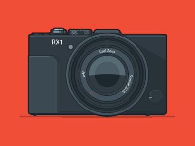 RX1 photography vector icon illustration camera rx1 sony
