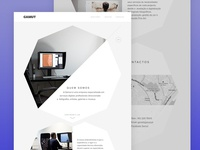 g a m u t photography octagon design web