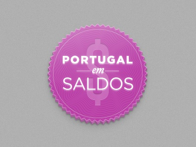 Portugal em Saldos logo trendy zigzag badge money sales