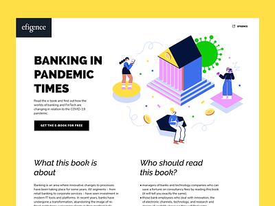 Banking in Pandemic Times banking pandemic ui isometric blue flat minimal illustrator design vector illustration
